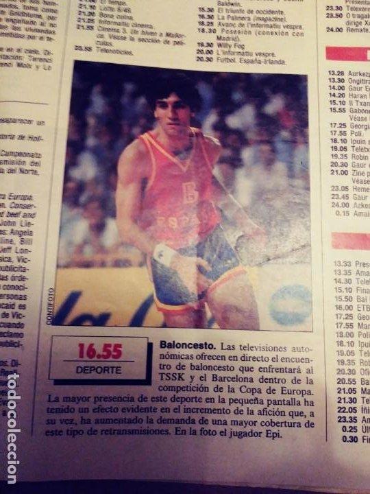Coleccionismo de Periódico El País: TELE PAIS: N:10/AÑO 1.16 DE DICIEMBRE DE 1988.SUPLEMENTO SEMANAL. TV & RADIO. - Foto 3 - 203004392