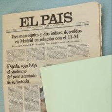 Coleccionismo de Periódico El País: EL PAIS 14 DE MARZO 2004. EN RELACION CON EL 11 M. Lote 203437088