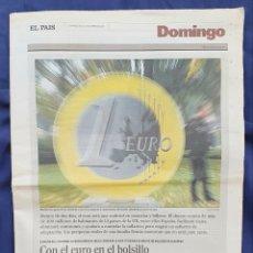 Coleccionismo de Periódico El País: DOMINGO EL PAIS 30 DE DICIEMBRE DE 2001.EL EURO. Lote 203437587