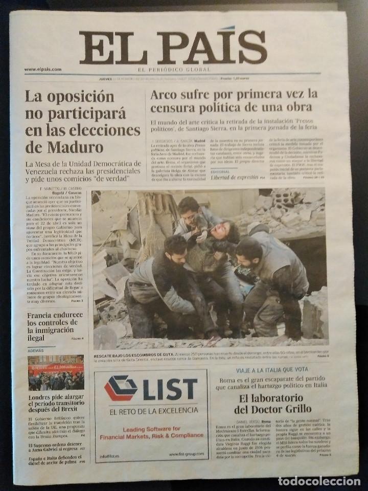 Coleccionismo de Periódico El País: FORGES - ÚLTIMA VIÑETA - DIARIO EL PAÍS 22/02/2018 - Foto 3 - 204810461