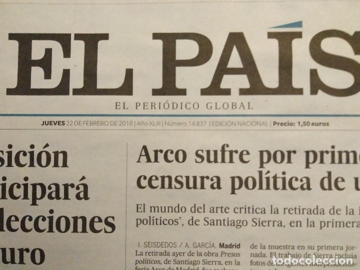 Coleccionismo de Periódico El País: FORGES - ÚLTIMA VIÑETA - DIARIO EL PAÍS 22/02/2018 - Foto 4 - 204810461
