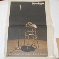 Coleccionismo de Periódico El País: VIDA Y MUERTE DE MICHAEL JOSEPH JACKSON-. Lote 205437610