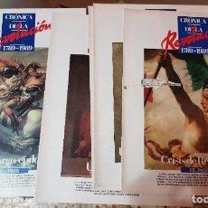 Coleccionismo de Periódico El País: LOTE 6 FASCÍCULOS COLECCIONABLES - CRÓNICA DE LA REVOLUCIÓN FRANCESA - EL PAÍS - COMPLETO SIN TAPAS. Lote 212554645