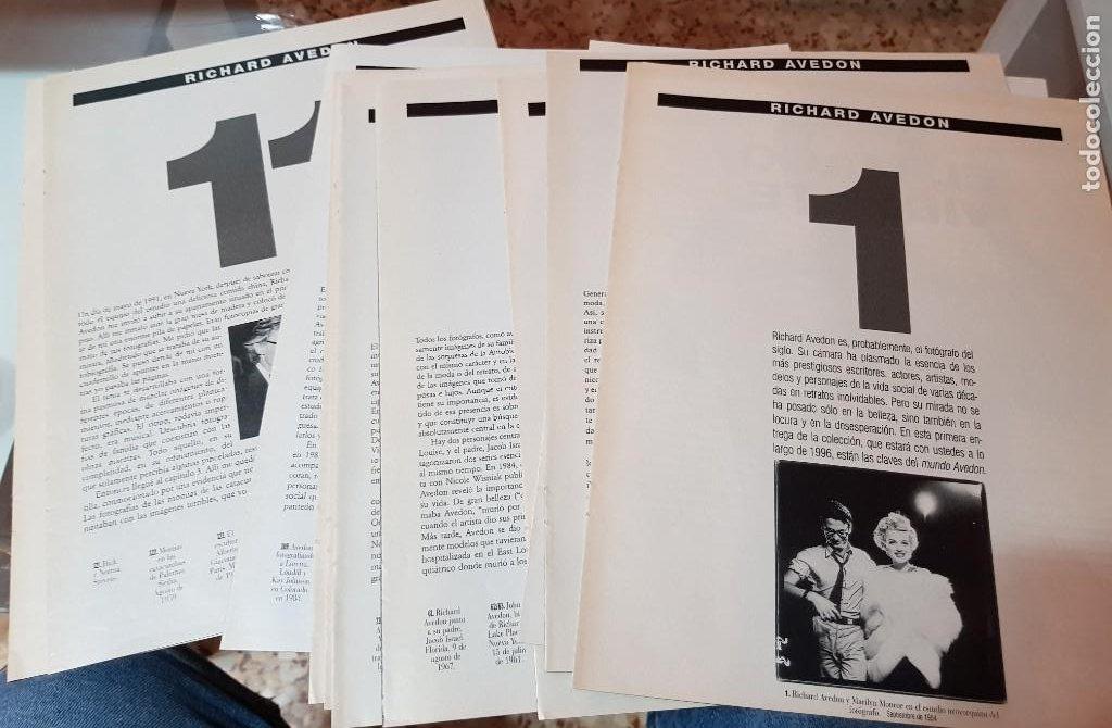 LOTE 10 FASCÍCULOS COLECCIONABLES - RICHARD AVEDON - EL PAÍS - FALTA 1 FASCÍCULO (Coleccionismo - Revistas y Periódicos Modernos (a partir de 1.940) - Periódico El Páis)