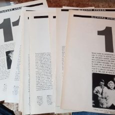 Coleccionismo de Periódico El País: LOTE 10 FASCÍCULOS COLECCIONABLES - RICHARD AVEDON - EL PAÍS - FALTA 1 FASCÍCULO. Lote 212622275