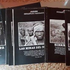 Coleccionismo de Periódico El País: SEBASTIÃO SALGADO - LAS FOTOS DEL FIN DE SIGLO - COLECCIONABLE EL PAÍS - COMPLETO SIN TAPAS. Lote 212623042