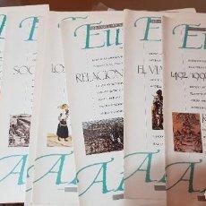 Coleccionismo de Periódico El País: LOTE 8 FASCÍCULOS EL PAÍS - EUROPA AMÉRICA - LA HISTORIA REVISADA 1492-1992 - COMPLETA SIN TAPAS. Lote 212623511