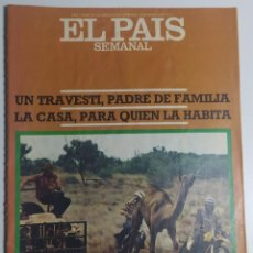 Coleccionismo de Periódico El País: PAÍS SEMANAL - NÚMERO 20 - 28 AGOSTO 1977 - TRAVESTI PADRE DE FAMILIA, CAMELLO-CROSS, AUSTRALIANOS. Lote 213083565
