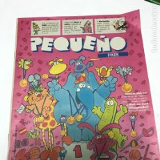 Coleccionismo de Periódico El País: PEQUEÑO PAÍS Nº550 13-14JUNIO 1992 - POSTER MORTADELO SE VISTE DE MOTERO. Lote 213565005