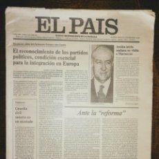 Collezionismo di Periódico El País: DIARIO EL PAIS. NUMERO 1 - 4 DE MAYO DE 1976 - ENVIO CERTIFICADO INCLUIDO.. Lote 216367015