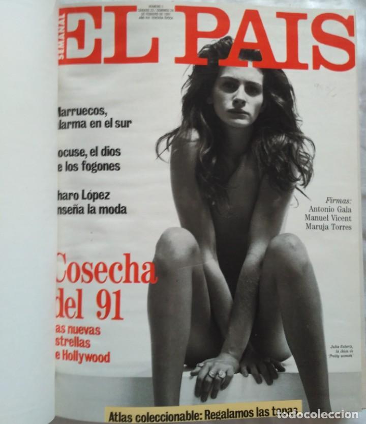 Coleccionismo de Periódico El País: REVISTAS EL PAIS ENCUADERNADO EN 3 TOMOS 1991 (23 REVISTAS) - Foto 4 - 224998255