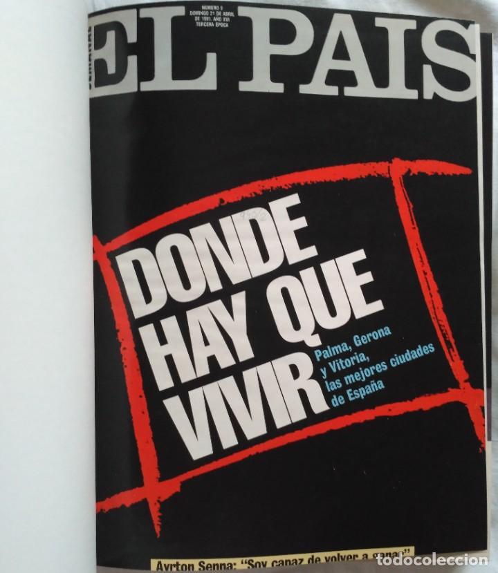 Coleccionismo de Periódico El País: REVISTAS EL PAIS ENCUADERNADO EN 3 TOMOS 1991 (23 REVISTAS) - Foto 8 - 224998255
