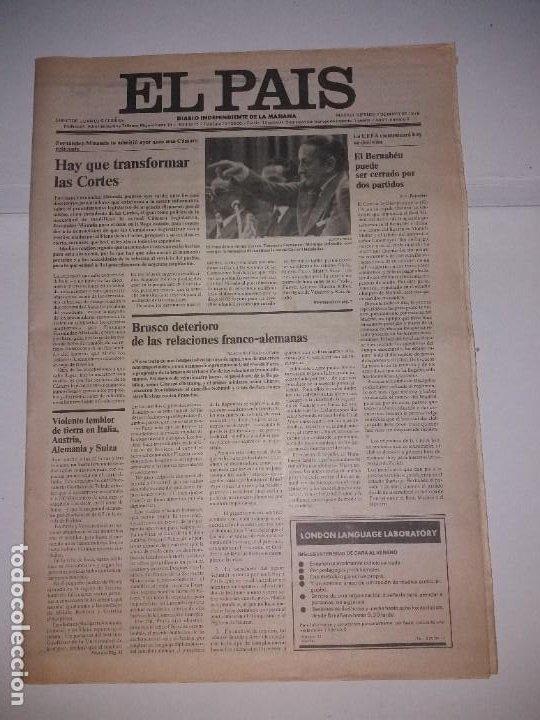 EL PAIS DIARIO INDEPENDIENTE DE LA MAÑANA, AÑO 1 NUMERO 4, 7 MAYO 1976 (Coleccionismo - Revistas y Periódicos Modernos (a partir de 1.940) - Periódico El Páis)