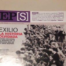 Collectionnisme de Journal El País: EL PAIS SEMANAL MONOGRAFICO EXILIO LA HISTORIA OLVIDADA. 12 ENERO 2003. Lote 229231260