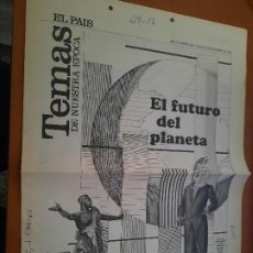 Collectionnisme de Journal El País: TEMAS DE NUESTRA EPOCA. EL FUTURO DEL PLANETA. EL PAIS 26-11-1992. ESCRITO LADO Y DOS AGUJEROS.. Lote 235224650