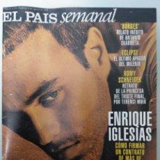 Coleccionismo de Periódico El País: EL PAÍS SEMANAL. ENRIQUE IGLESIAS. 1999. Lote 236212330