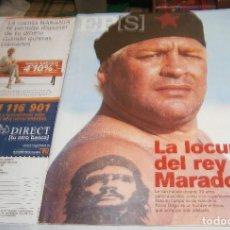 Coleccionismo de Periódico El País: EL PAIS SEMANAL Nº 1223 AÑO 2000 LA LOCURA DEL REY MARADONA. Lote 236963810
