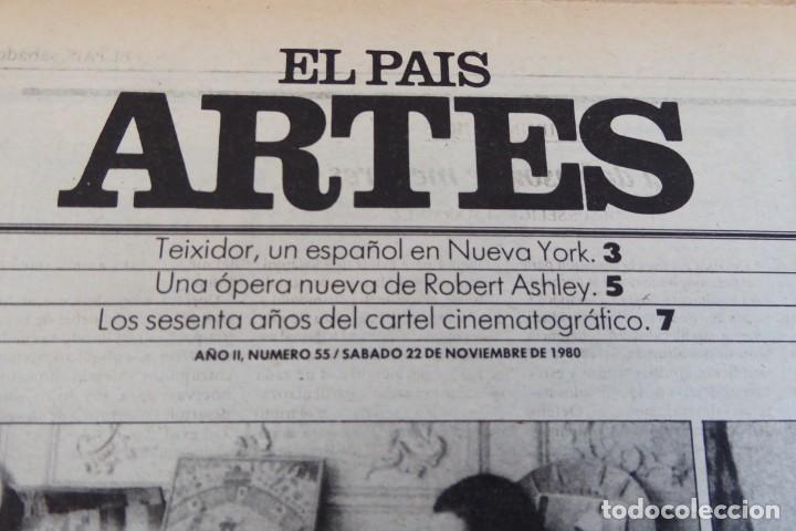 Coleccionismo de Periódico El País: ARTES. SUPLEMENTO EL PAÍS. AÑO II Nº 55. 1980 - Foto 2 - 60953795