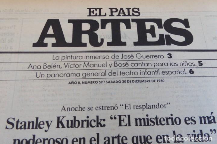 Coleccionismo de Periódico El País: ARTES. SUPLEMENTO EL PAÍS. AÑO II Nº 59. 1980 - Foto 2 - 60953907