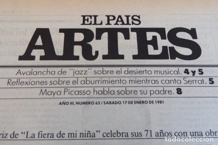 Coleccionismo de Periódico El País: ARTES. SUPLEMENTO EL PAÍS. AÑO III Nº 63. 1981 - Foto 2 - 60954163
