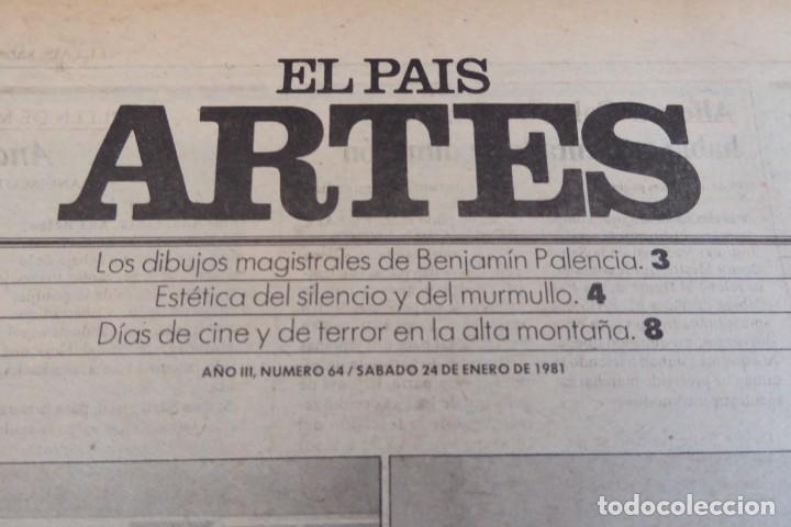 Coleccionismo de Periódico El País: ARTES. SUPLEMENTO EL PAÍS. AÑO III Nº 64. 1981 - Foto 2 - 60954191