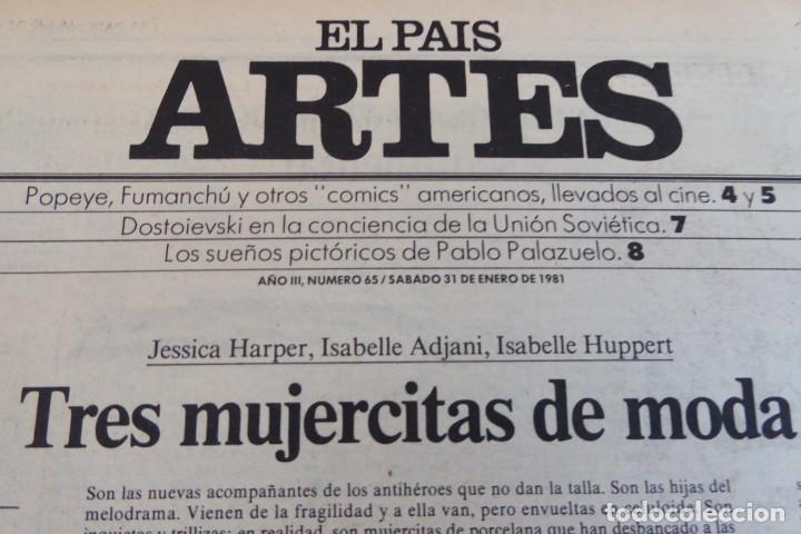 Coleccionismo de Periódico El País: ARTES. SUPLEMENTO EL PAÍS. AÑO III Nº 65. 1981 - Foto 2 - 60954231