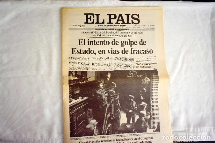 EL PAÍS - 23-F - EDICIÓN DE LAS CUATRO DE LA MADRUGADA (Coleccionismo - Revistas y Periódicos Modernos (a partir de 1.940) - Periódico El Páis)