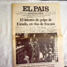 Coleccionismo de Periódico El País: EL PAÍS - 23-F - EDICIÓN DE LAS CUATRO DE LA MADRUGADA. Lote 243056690