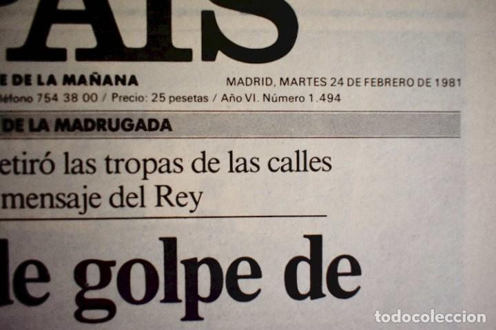 Coleccionismo de Periódico El País: EL PAÍS - 23-F - EDICIÓN DE LAS CUATRO DE LA MADRUGADA - Foto 2 - 243056690