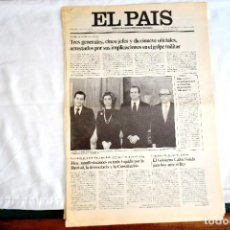 Coleccionismo de Periódico El País: EL PAÍS - ARRESTOS 23-F - CONVOCATORIA MANIFESTACIÓN POR LA DEMOCRACIA. Lote 243058080