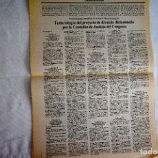 Coleccionismo de Periódico El País: EL PAÍS - 1980 - TEXTO DE LA LEY DEL DIVORCIO. Lote 243062240