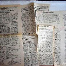Coleccionismo de Periódico El País: EL PAÍS / DIARIO 16: NOTICIAS 23-F. Lote 243064200