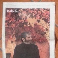 Coleccionismo de Periódico El País: BABELIA, Nº 939. 21/11/2009. EN PORTADA: ANTONIO MUÑOZ MOLINA. EL PAIS. Lote 243985220
