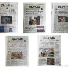 Coleccionismo de Periódico El País: LOTE CORONAVIRUS: EL PAIS. Lote 244967150