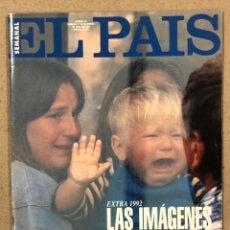 Coleccionismo de Periódico El País: EL PAÍS SEMANAL N° 97 (1992). LAS IMÁGENES DEL AÑO EXTRA 1992.. Lote 245084565