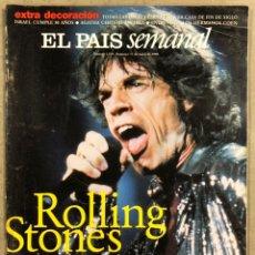 Collezionismo di Periódico El País: EL PAIS SEMANAL N° 1129 (1998). THE ROLLING STONES, HERMANOS COHEN, INGRID RUBIO,.... Lote 251690640