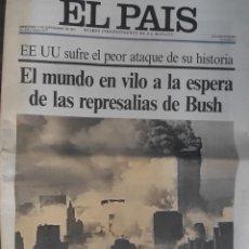 Coleccionismo de Periódico El País: DIARIO EL PAÍS 12/09/2001 - ATAQUE A LAS TORRES GEMELAS. Lote 253348665