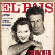Collezionismo di Periódico El País: EL PAÍS SEMANAL N° 196 (1994). KATE MOSS Y CALVIN KLEIN, CARLOS FUENTES,.... Lote 254045880