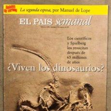 Coleccionismo de Periódico El País: EL PAÍS SEMANAL N° 1090 (1997). DINOSAURIOS, JORGE WAGENSBERG, LOS WINDSOR,... Lote 254071140