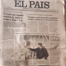 Coleccionismo de Periódico El País: LOTE DE 3 DIARIOS, EL PAIS, NUMEROS 4311,4312, 4314. Lote 254804720
