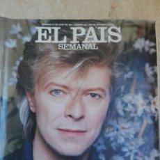 Coleccionismo de Periódico El País: EL PAIS SEMANAL N° 532. DAVID BOWIE AÑO 1987 - ANUNCIO CRUZCAMPO, ETC. Lote 261245130