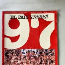 Coleccionismo de Periódico El País: EL PAÍS SEMANAL. ESPECIAL 1997 EL AÑO DE ERMUA. DICIEMBRE 1997.. Lote 266914034