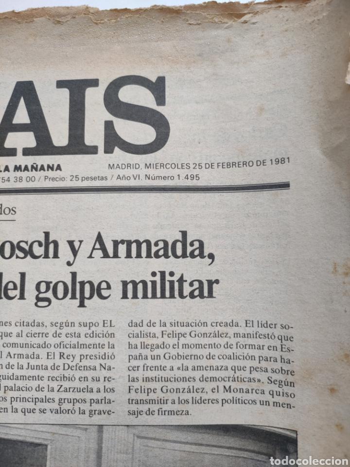 Coleccionismo de Periódico El País: Periódico El País del día 25 de febrero 1981. - Foto 2 - 270224838