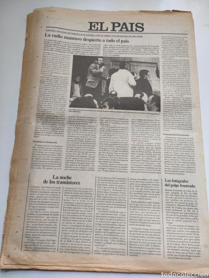 Coleccionismo de Periódico El País: Periódico El País del día 25 de febrero 1981. - Foto 8 - 270224838