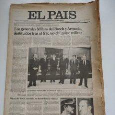 Coleccionismo de Periódico El País: PERIÓDICO EL PAÍS DEL DÍA 25 DE FEBRERO 1981.. Lote 270224838