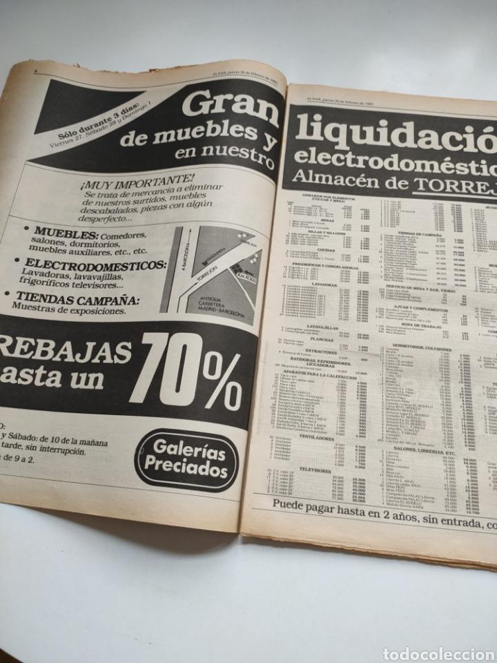 Coleccionismo de Periódico El País: Periódico El País 26 de febrero de 1981. - Foto 4 - 270226138