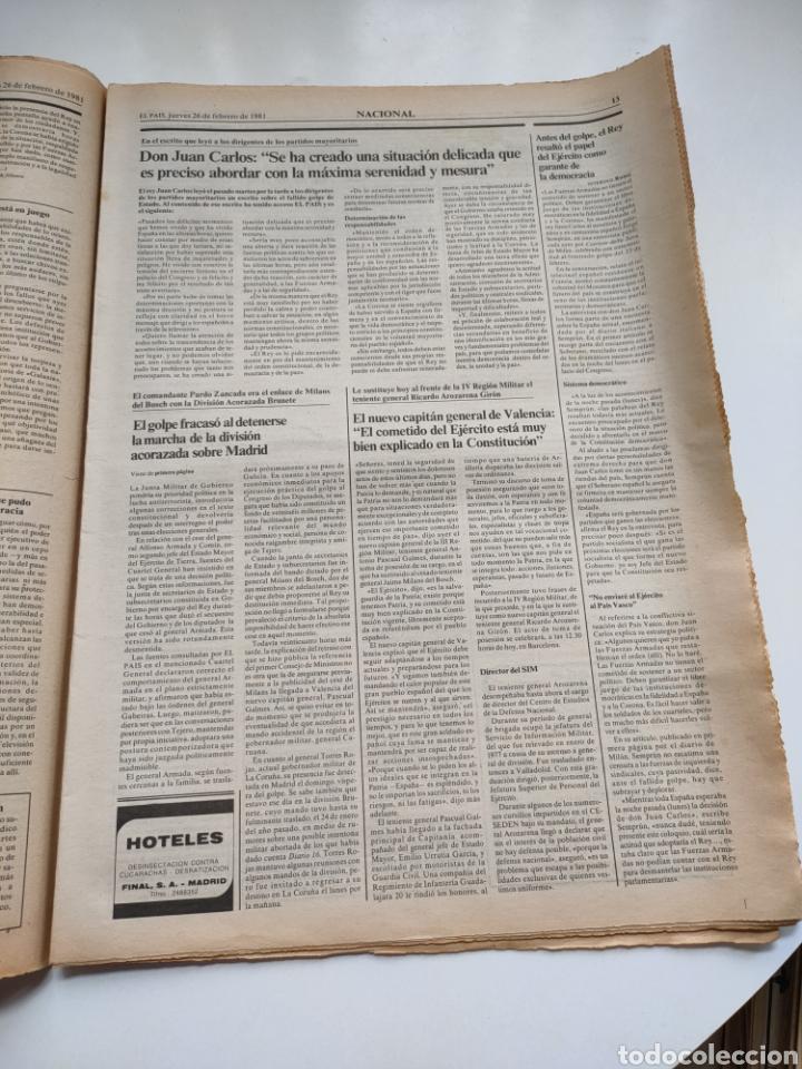 Coleccionismo de Periódico El País: Periódico El País 26 de febrero de 1981. - Foto 5 - 270226138
