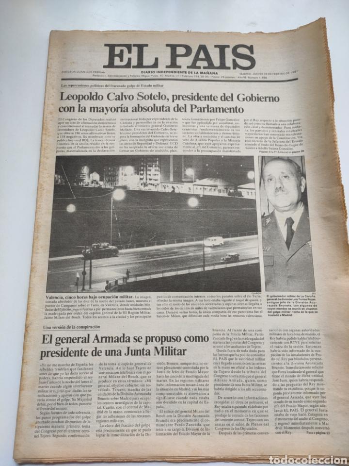 PERIÓDICO EL PAÍS 26 DE FEBRERO DE 1981. (Coleccionismo - Revistas y Periódicos Modernos (a partir de 1.940) - Periódico El Páis)