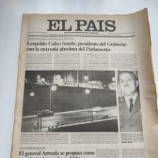 Coleccionismo de Periódico El País: PERIÓDICO EL PAÍS 26 DE FEBRERO DE 1981.. Lote 270226138
