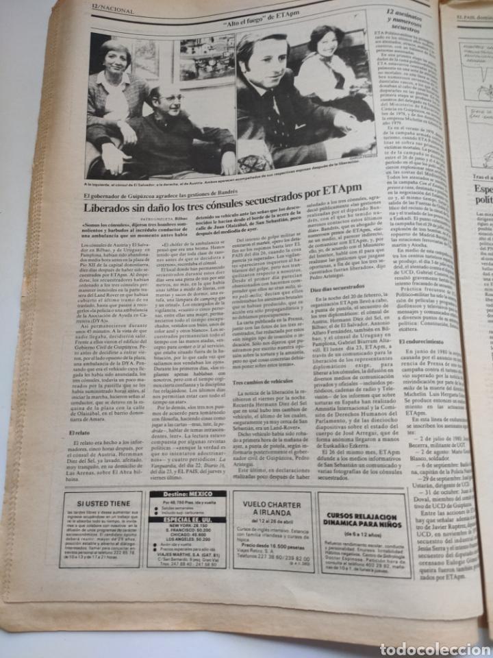 Coleccionismo de Periódico El País: Periódico El País 1 de marzo de 1981. - Foto 4 - 270228203